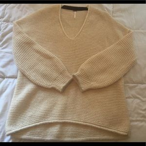 Free People Sweaters - Free People Cream Knit Sweater Size Large